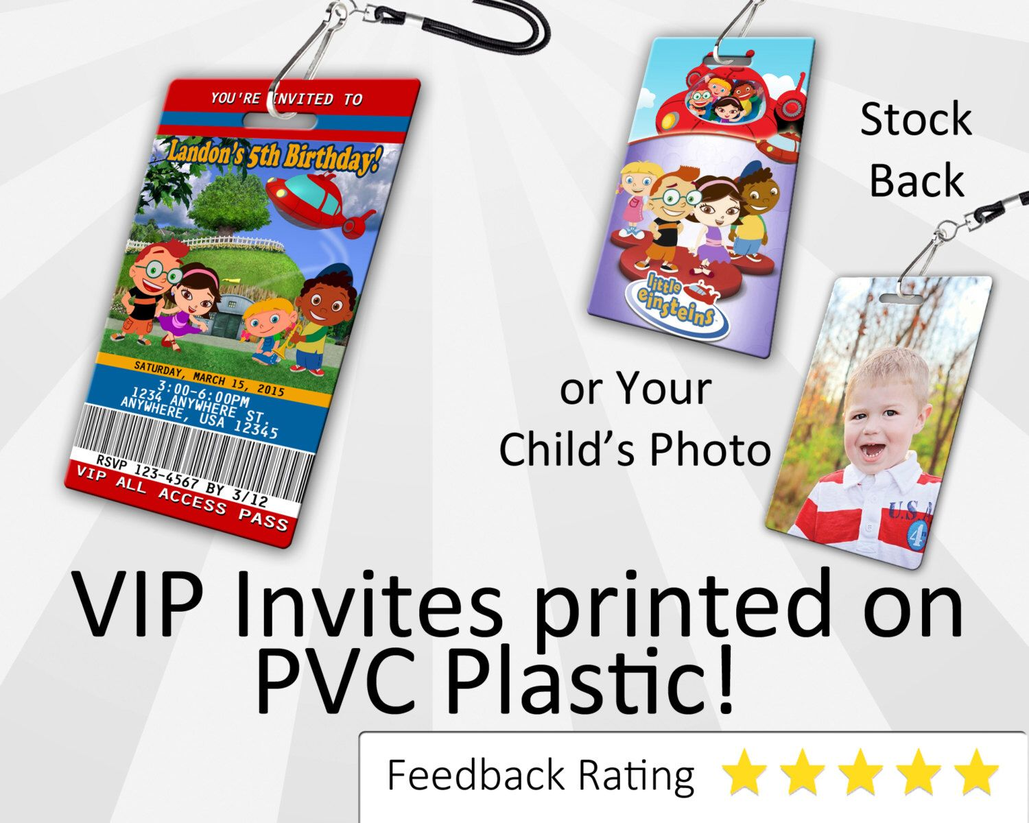 Little Einsteins Invitation PLASTIC Little Einsteins, Little ...