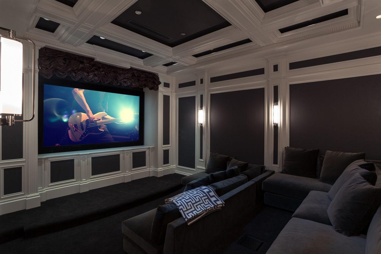 Far Hills Residence home theater featuring Crestron Technology | AV ...