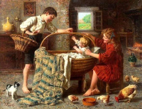 Художник Eugenio Eduardo Zampighi (1859-1944)