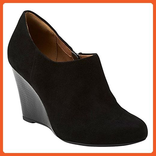 Womens Boots Clarks Purity Frost Black Suede