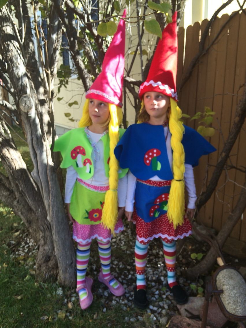 Girls GNOME costume 2015 #gnomecostume Girls GNOME costume 2015