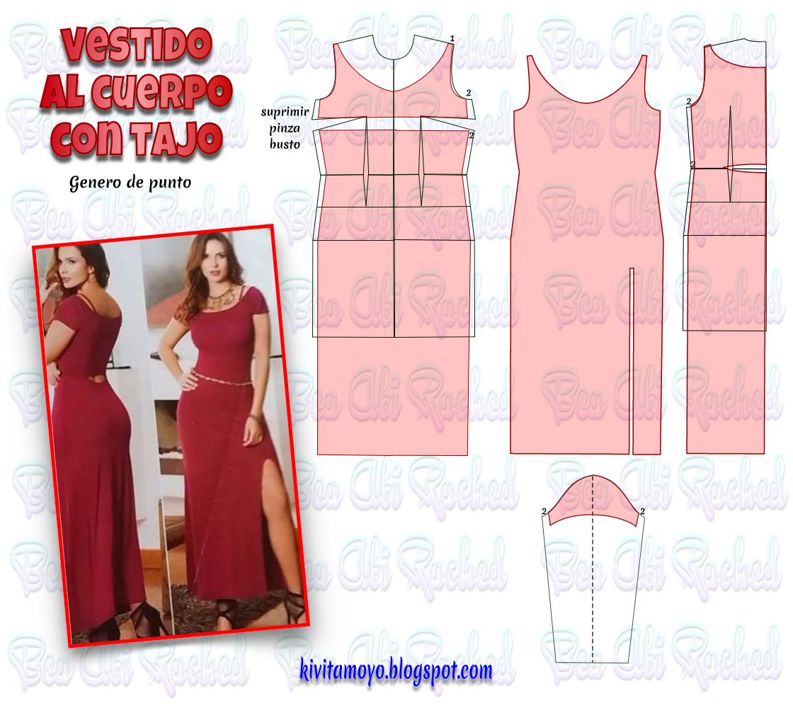 KiVita MoYo : VESTIDO LARGO EN TELA DE PUNTO CON TAJO   vestidos2 ...