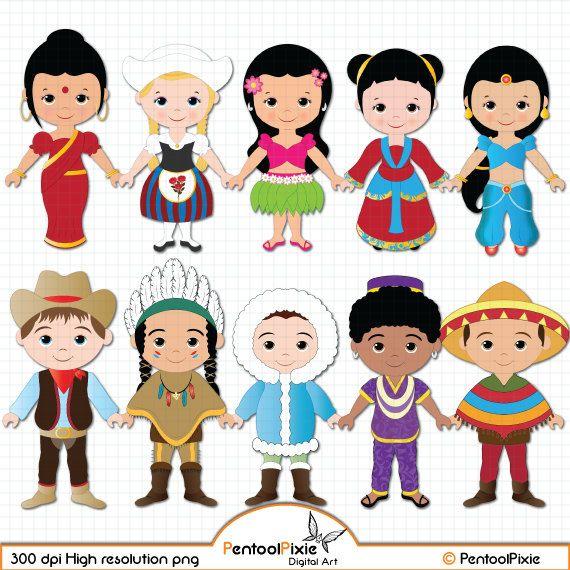 Good Children Around The World Clipart World Children By PentoolPixie