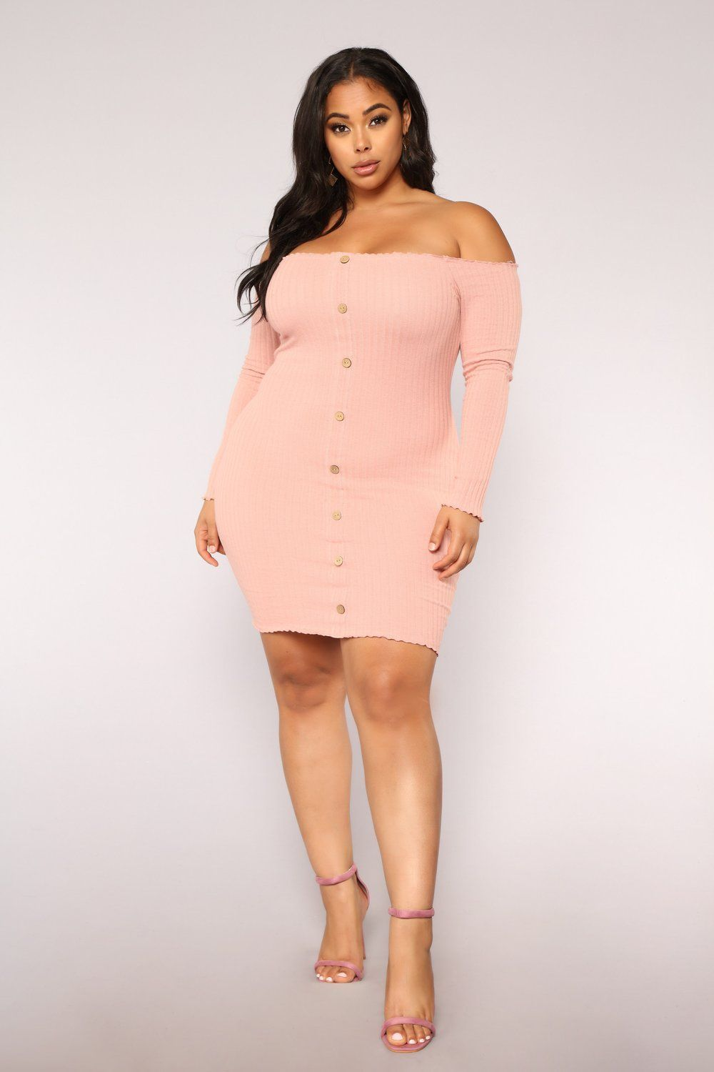 Never worn off the shoulder light pink mini dress from