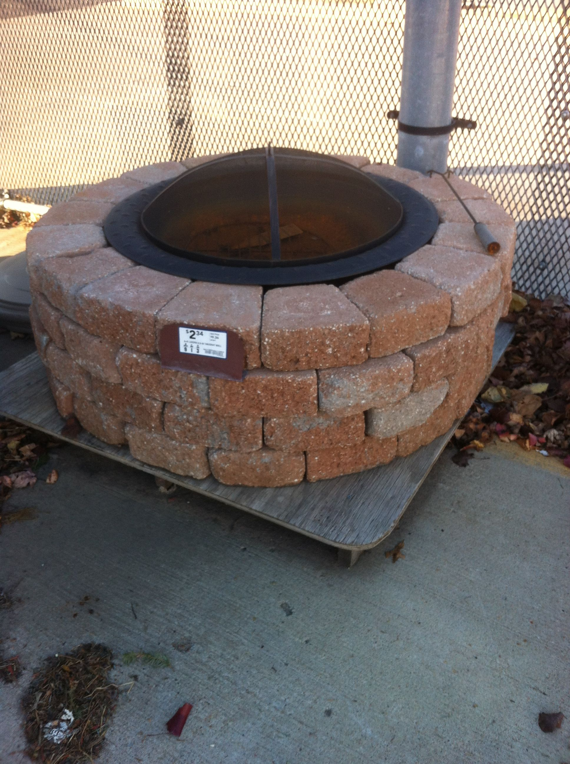 Firepit at Lowes Outside fire pits, Concrete fire pits