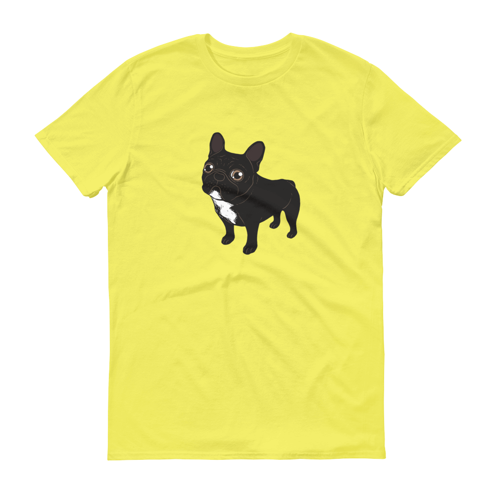 Brindle Frenchie likes to go for a walk to meet some friends Short-Sleeve T-Shirt