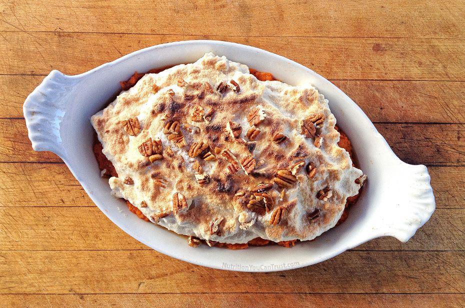 Sweet potato casserole #healthymarshmallows