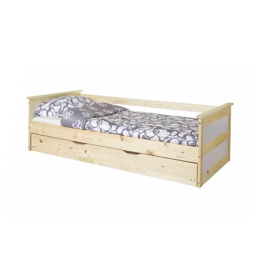 Kinderzimmer ohne bett massivholzbett mit ausziehbett kiefer weiß jetzt bestellen unter