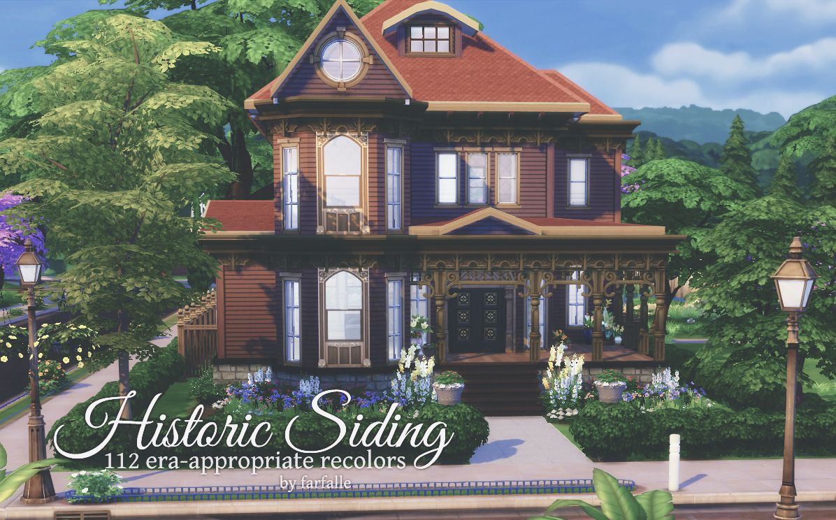 I Always Wanted To Lie Down On Floor Of >> Farfallesims Historic Siding 112 Recolours Of Maxis S Simple