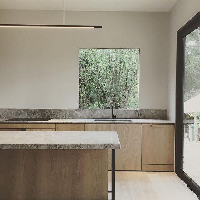 cuisine intemporelle bois et granite gris - Granite Gris Cuisine