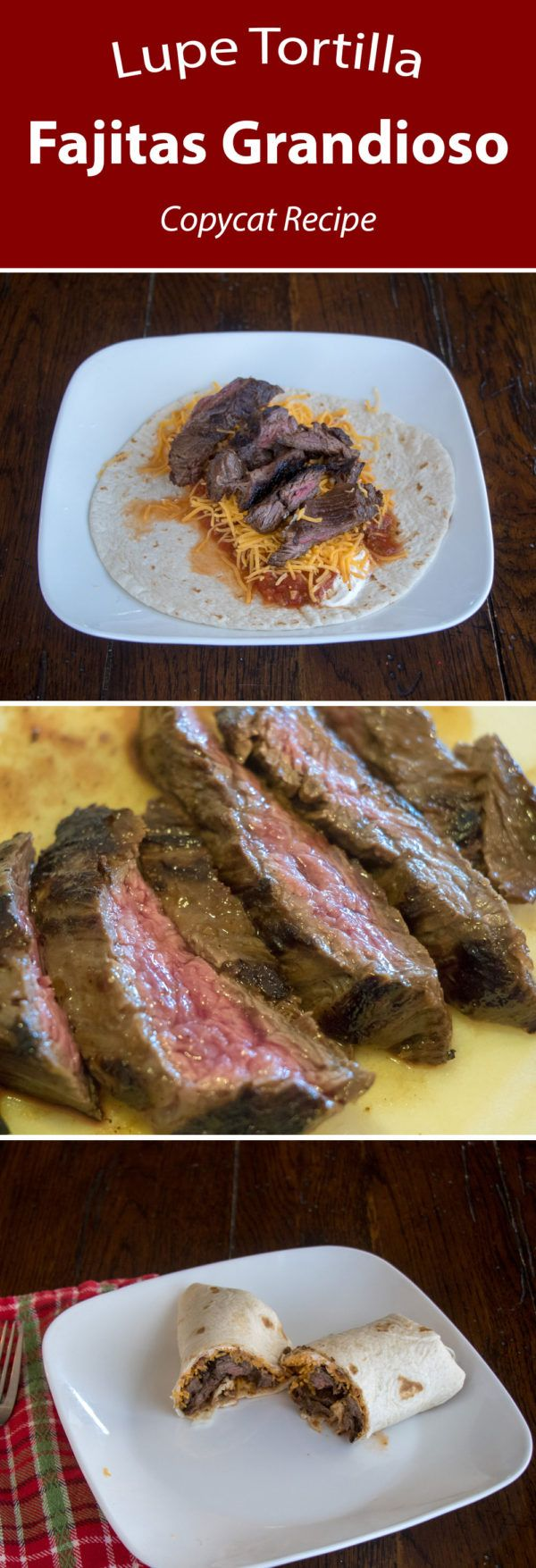 Lupe Tortilla's Fajitas Grandioso - Copycat Recipe #steakfajitarecipe