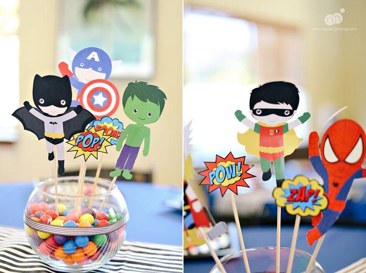 Kaleb S 1st Birthday Superheroes Themed Birthday Party 1st