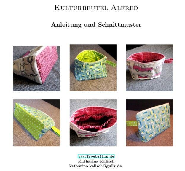 Schnittmuster Kulturbeutel Alfred | Fröbelina