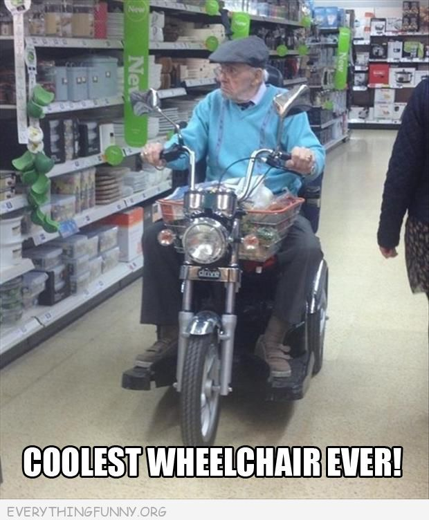 Superieur Funny Caption Coolest Wheelchair Ever Looks Like Motorcycle