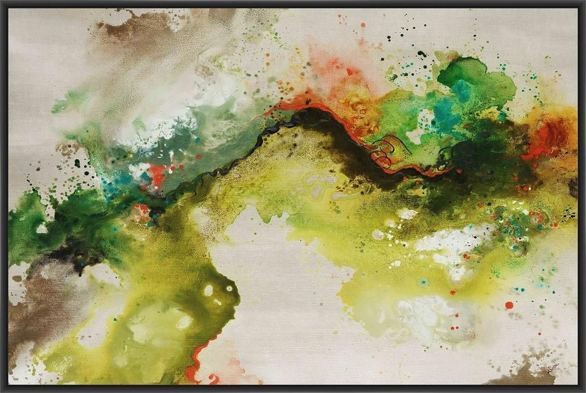Animated flow i l x h floater framed art giclee wrapped canvas