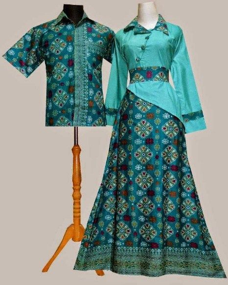 Model Baju Gamis Batik Kombinasi Fashion In 2019 Dresses Batik