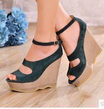 Sexy Mujer Sandalias De Deportes Plataforma Verano Botines Cuña Zapatos de tacón