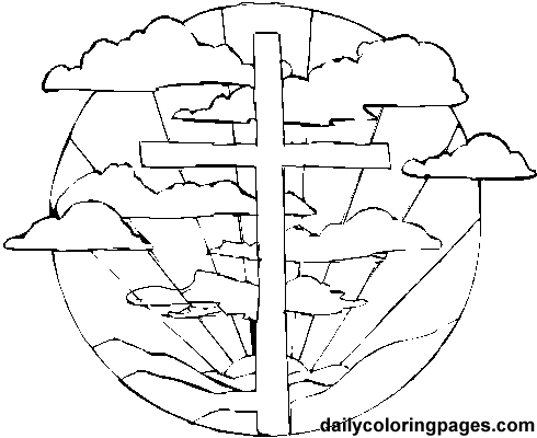 Easter Cross Coloring Pages | Easter | Pinterest | More Easter ...