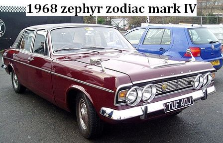 968 Ford Zodiac Mk Iv My Car No 4 Was White With Red Sides