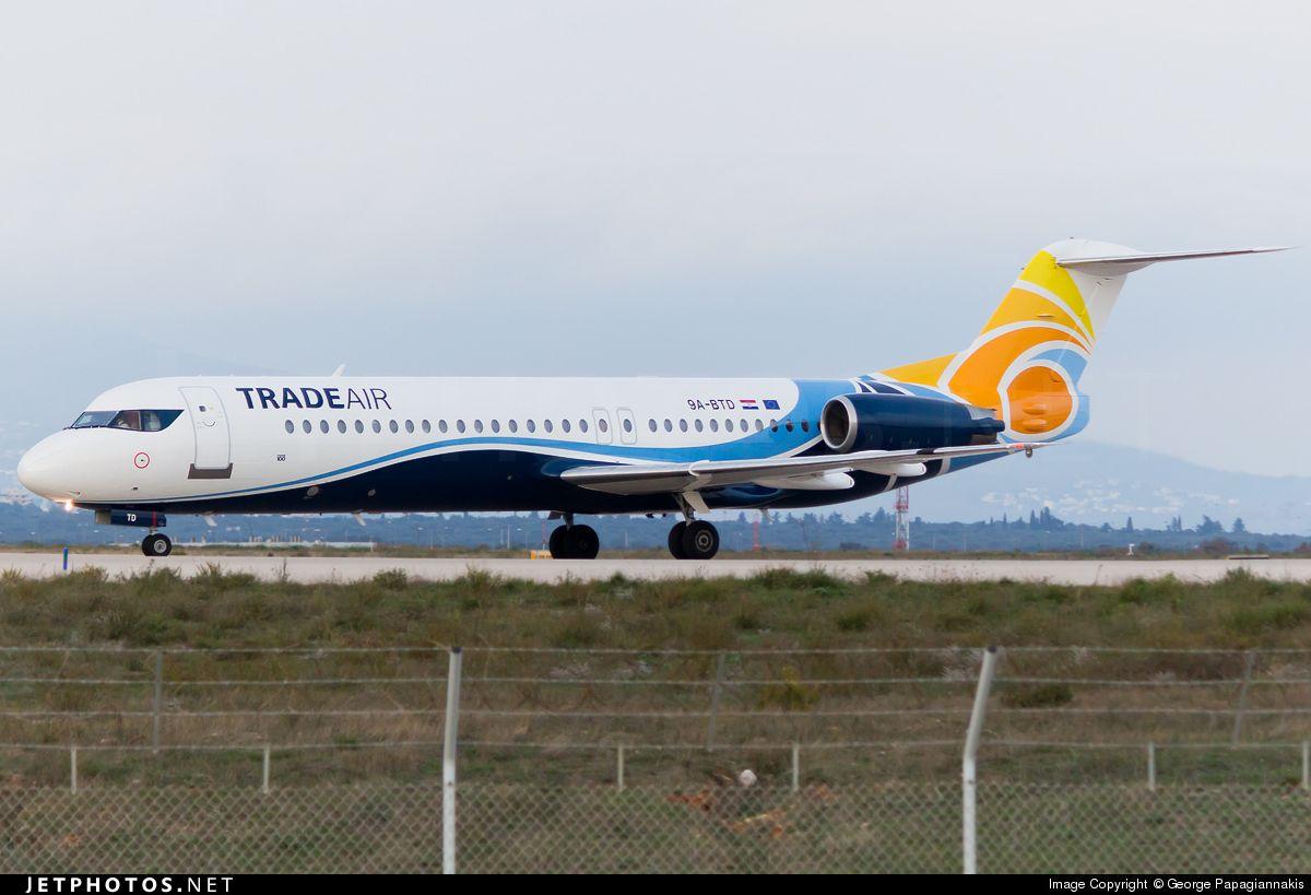Fokker 100 9A-BTD 11407 Athens Eleftherios Venizelos Int'l Airport - LGAV