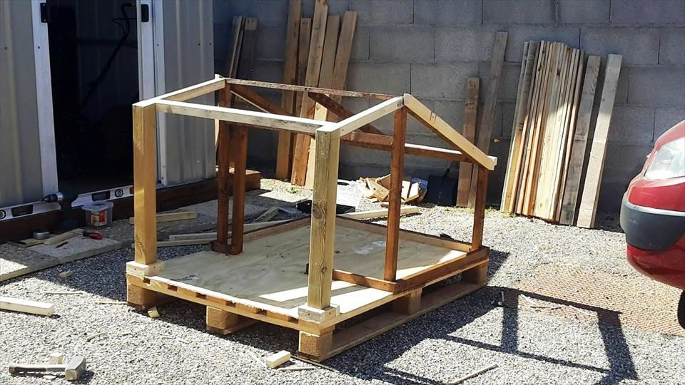 Pallet Dog House - Step by Step Plan | Pinterest | Pallet dog house ...