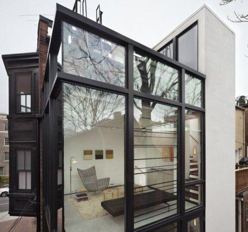 Glass box meets historic home