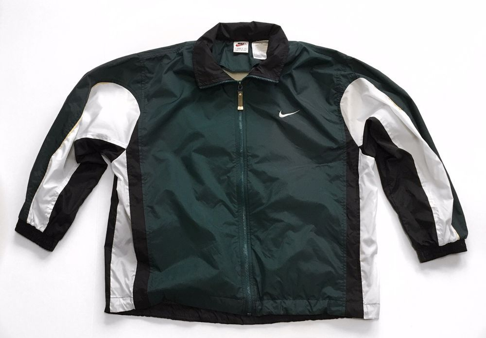 Vintage 90's Nike Big Swoosh White Tag Windbreaker Size L