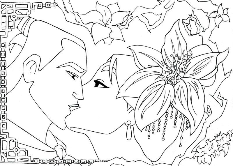 Kiss Mulan and Shang lineart- by lizzzy-art | diy/hacks | Pinterest ...