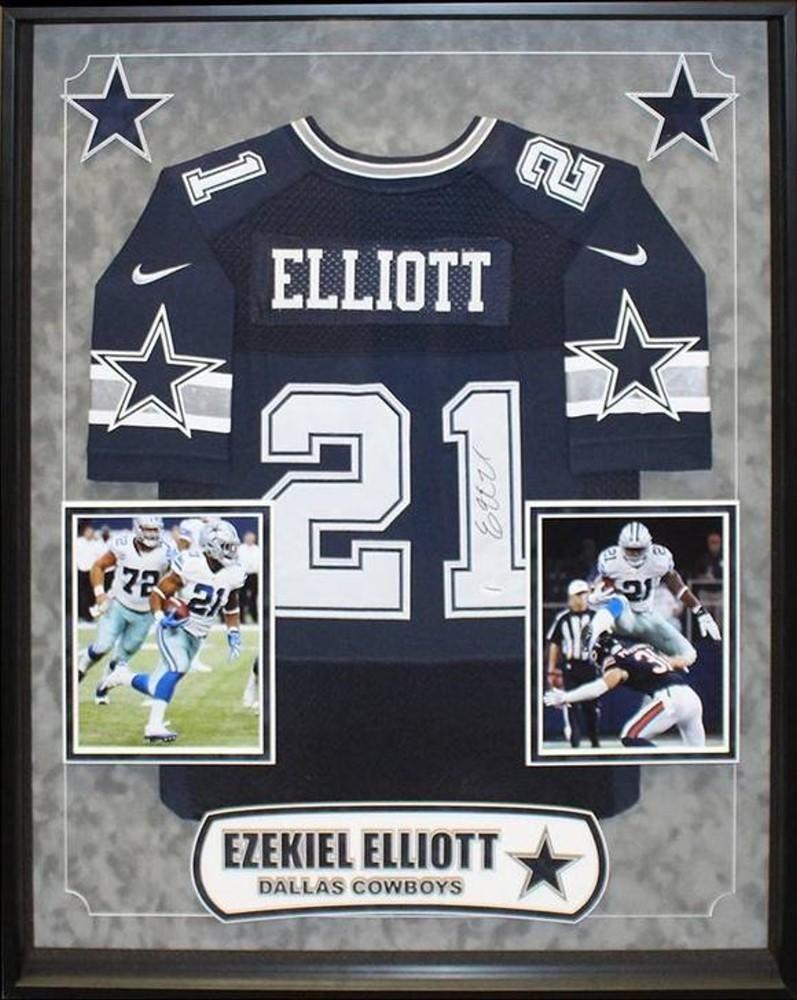 Ezekiel Elliott Dallas Cowboys NFL Signed Football Jersey