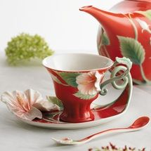 Island Beauty Hibiscus Collection Cup Saucer Spoon