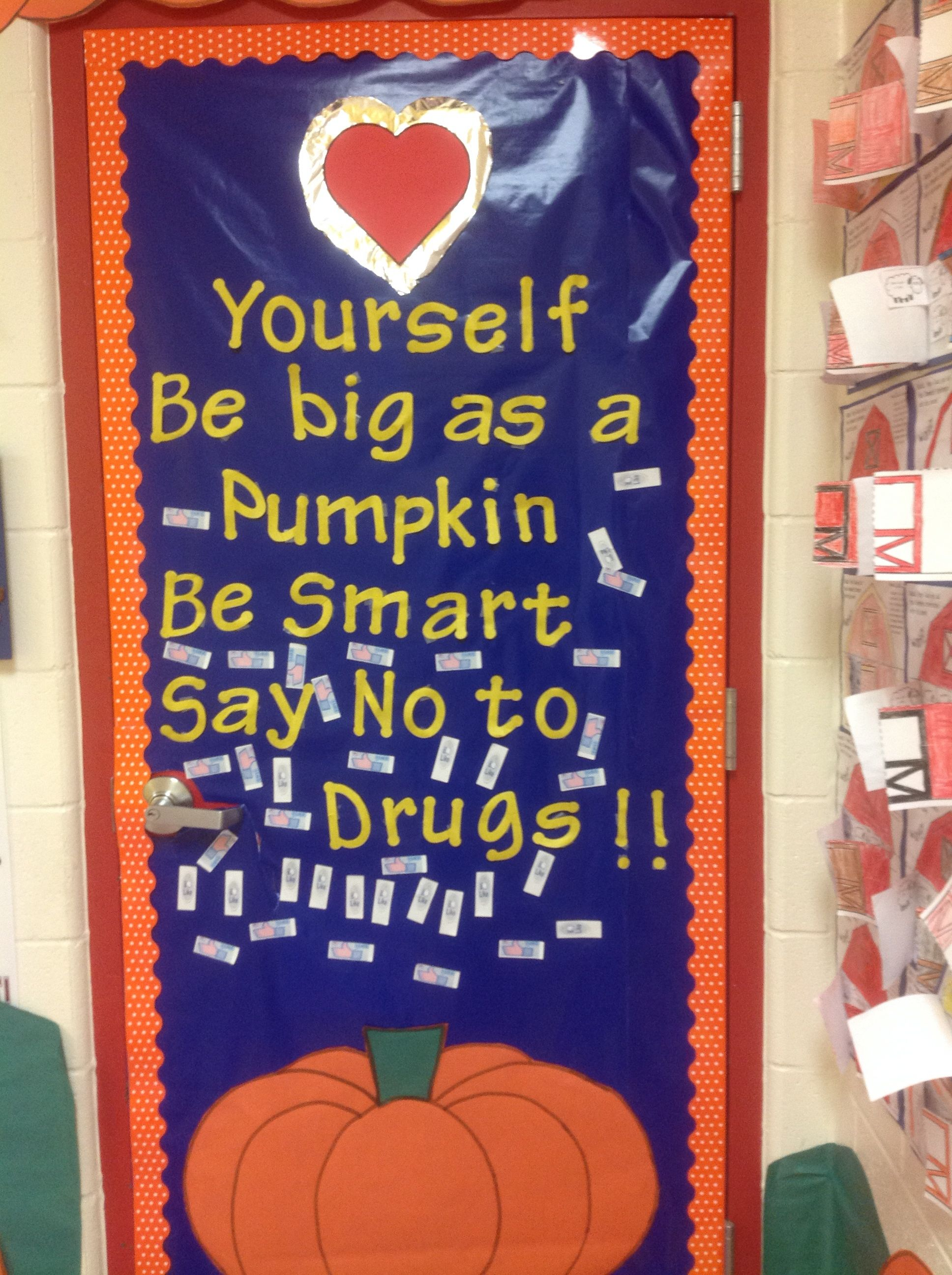 Image result for red ribbon week door ideas for elementary for Idea door primary
