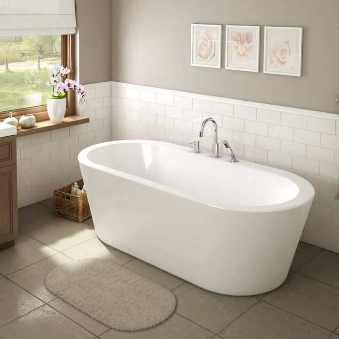 "A&E Bath and Shower Una 71"" x 34"" Freestanding Bathtub & Reviews | Wayfair"