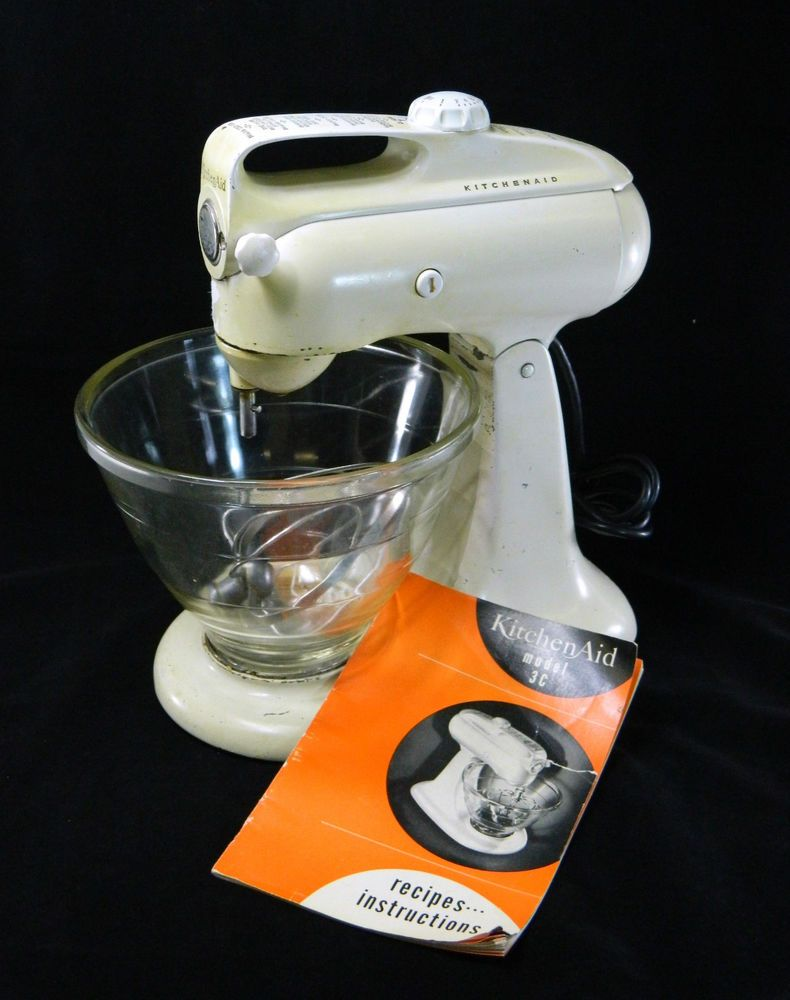 Kitchen Aid Hobart Stand Mixer Model 3 C Vintage Glass