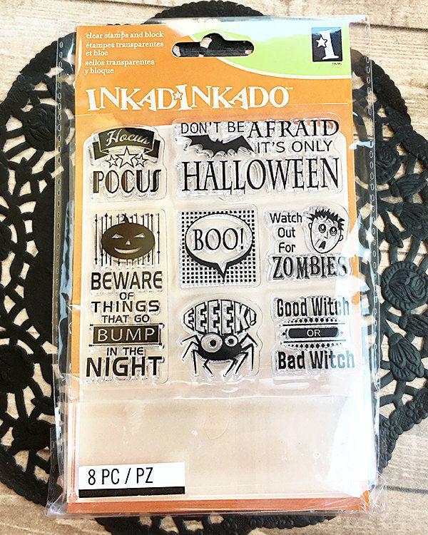 Fall colors Inkadinkado Clear mini Stamps