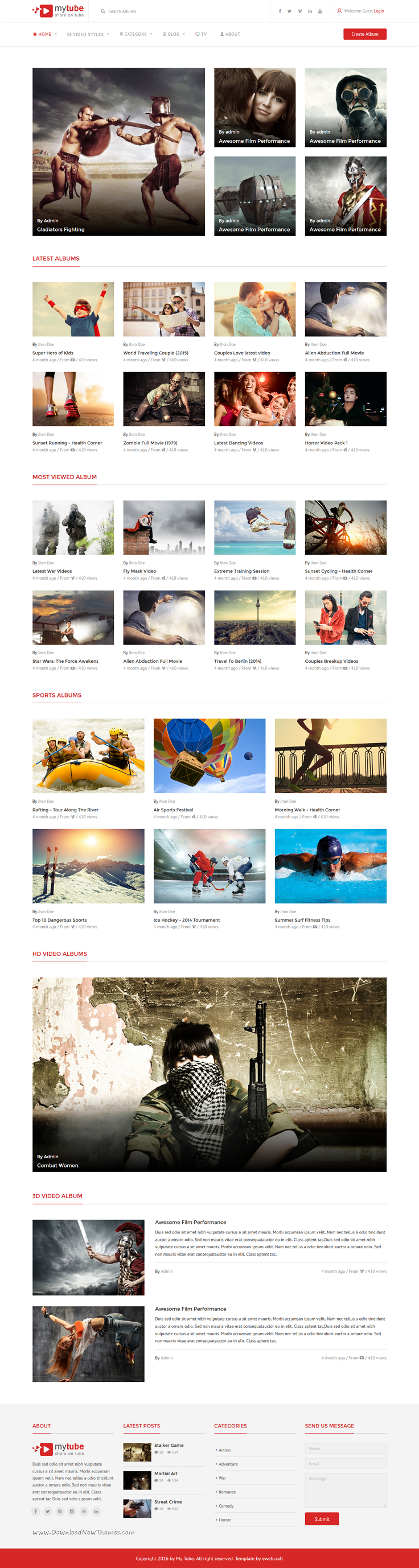 MyTube is modern and high quality #Bootstrap HTML #template for ...