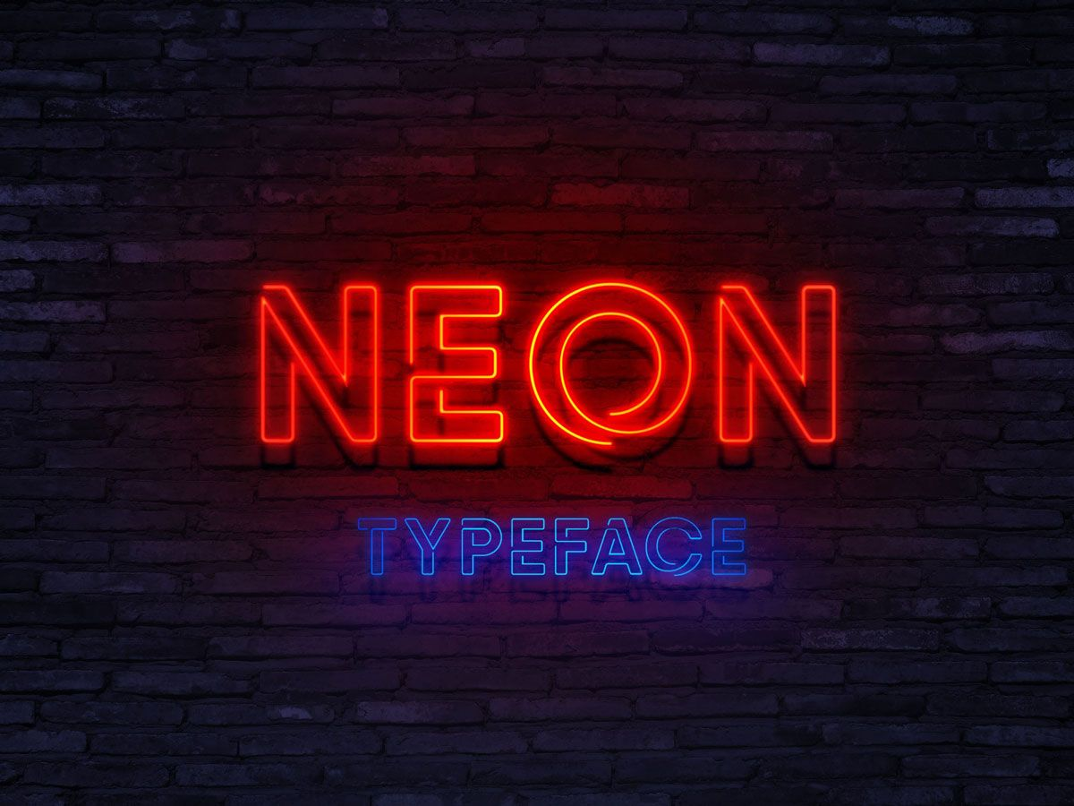 Neon Typeface Font Free Download. fonts neon free