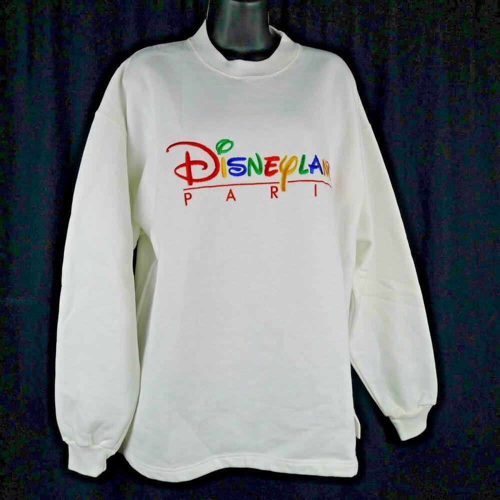 Vintage Disneyland Paris Sweatshirt White With Colorful