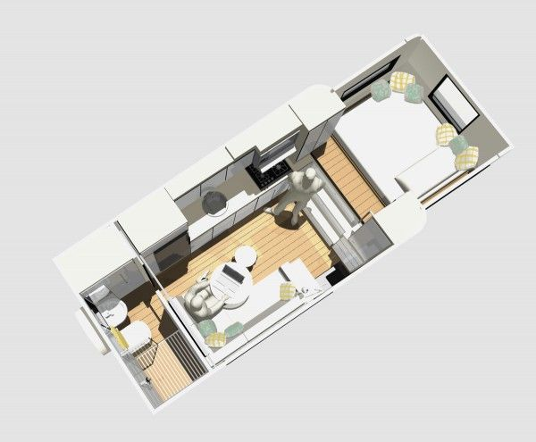 mcm design motorhome tiny house 08 600x495 custom truck rv modern motorhome living or a - Modern Tiny House Plans
