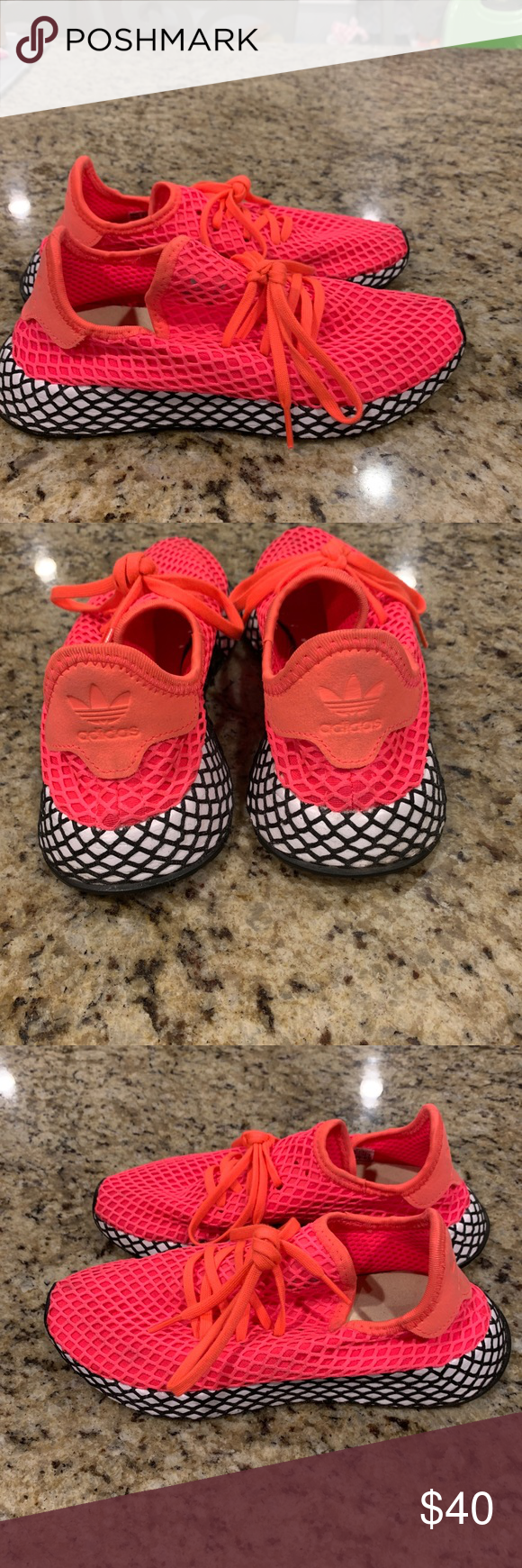 b502c1c04f688 Adidas Deerupt Adidas Deerupt kids Size 4.5 like new barely worn