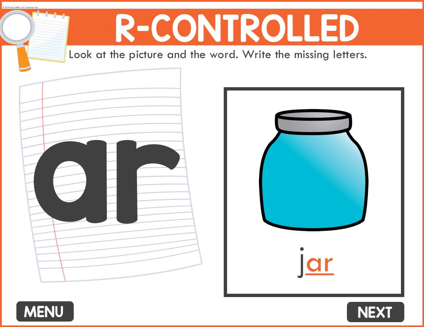 Digital Word Work Activity Mystery Letters