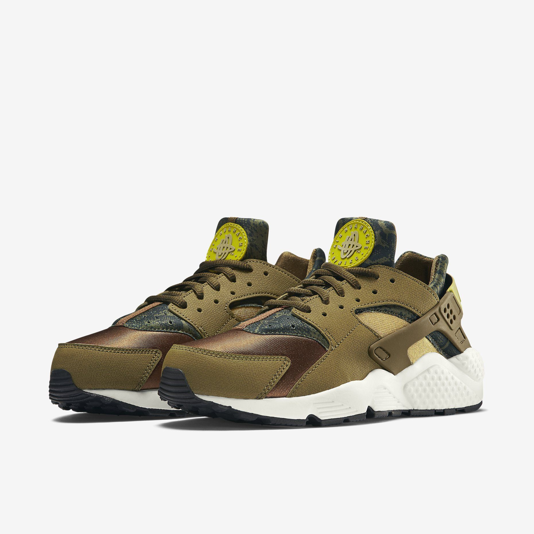 Nike Air Huarache Print Militia Green Schoenen en Shoes