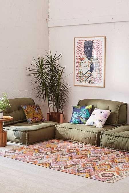 Lennon loveseat sofa in 2019 home reema floor cushion - Cushion flooring for living rooms ...