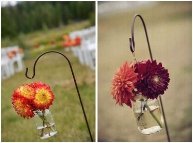 Who doesnt love a mason jar...my friend just did something similar to this at her wedding and it looked amazing!