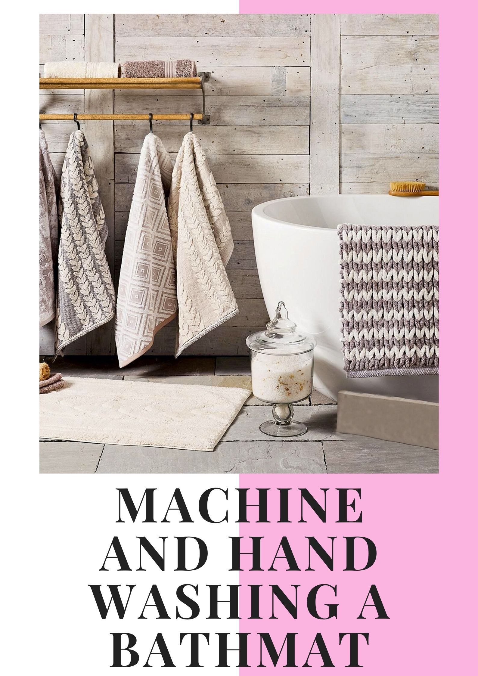 The Bath Mat Can Be Washed In Two Ways By Hand Or Washing Machine