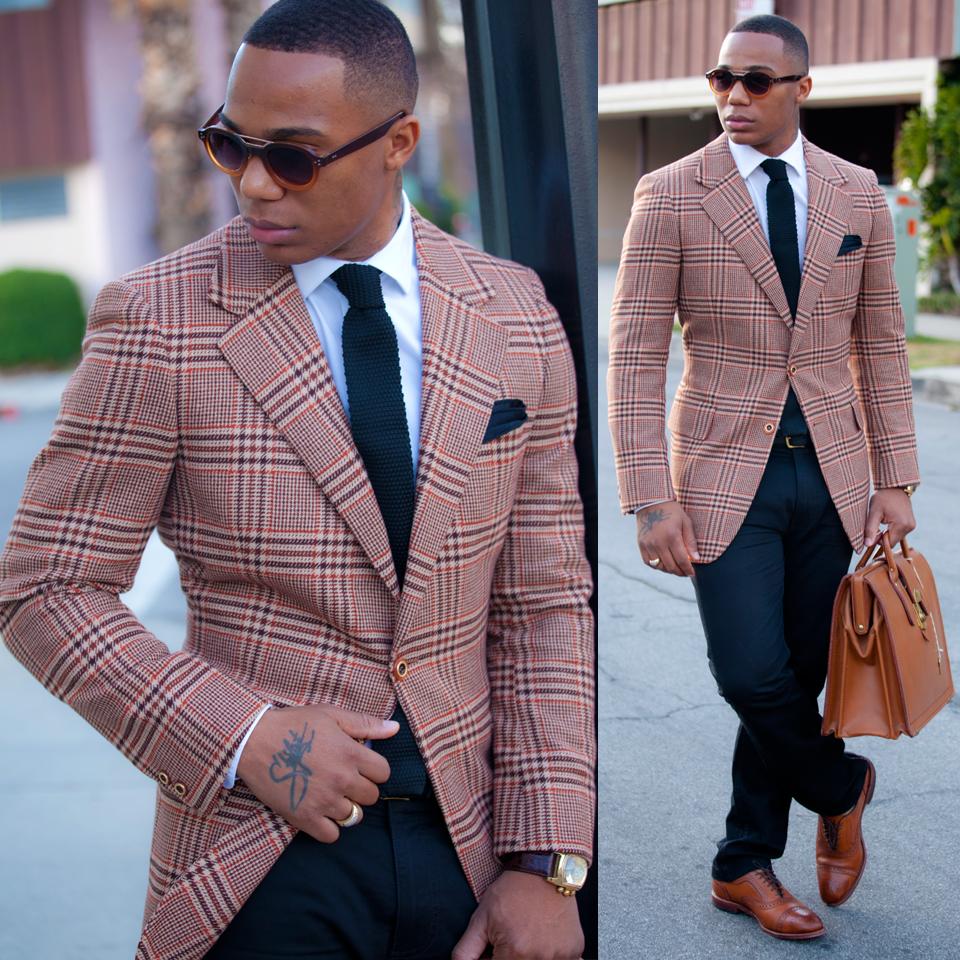 Beige, red and black men in suit … | Men's Fashion | Mens fashion:__cat__, Suit fashion, Black ...