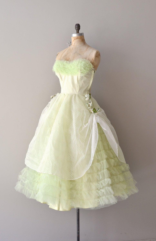 c1b0dc04819 vintage 50s dress   1950s dress   Aurantiifolia dress.  485.00
