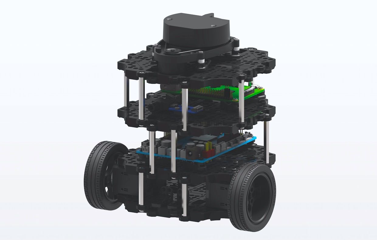 Turtlebot 3 Burger mobile robot is powered by ROS, the Robot