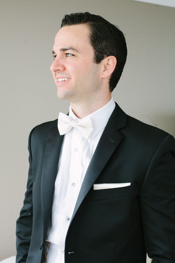 Groom In White Bow Tie