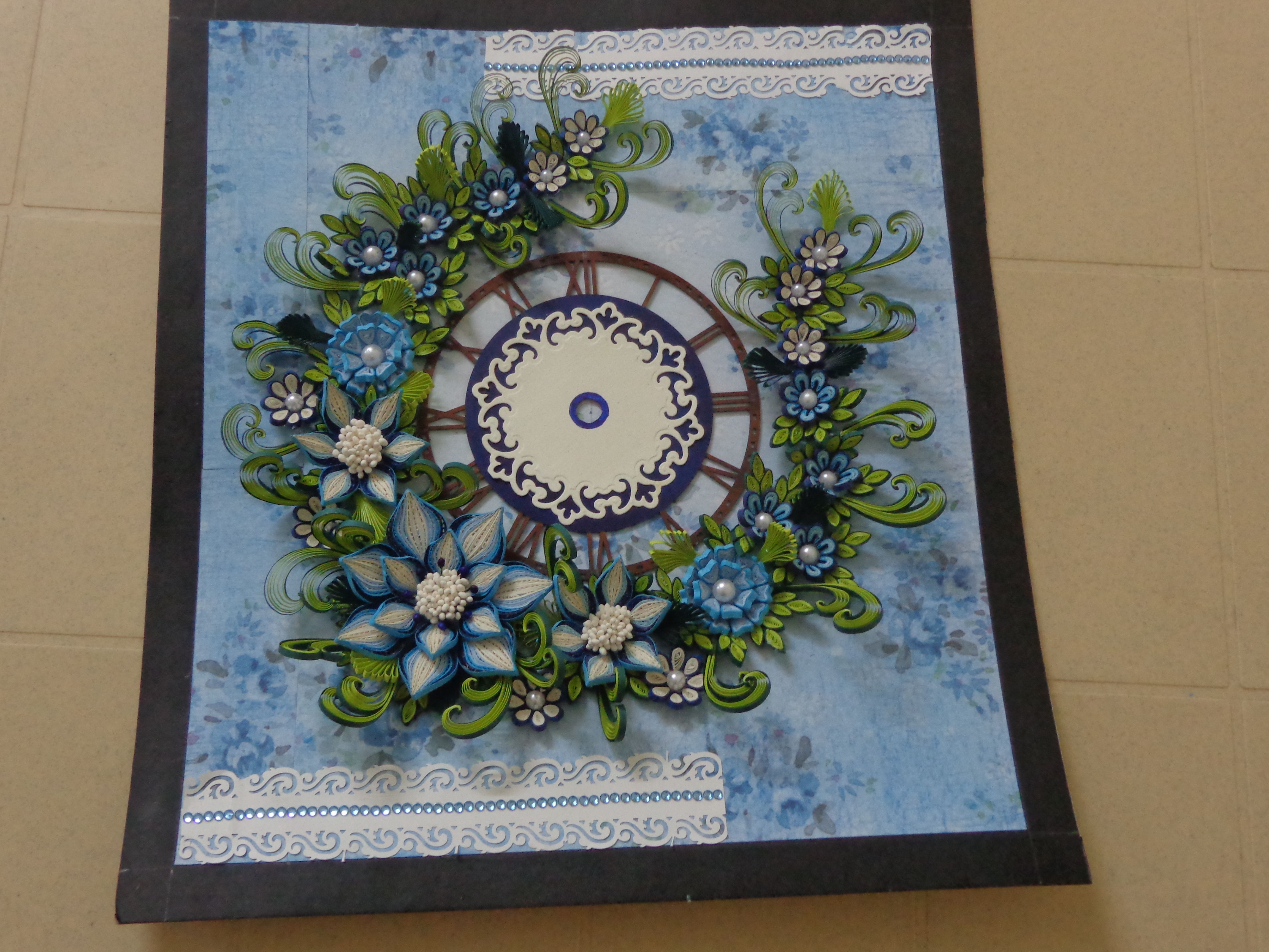 quilling wall clock quilling Pinterest Quilling Clock and