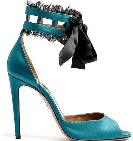 Aquazzura ribbon ankle strap sandals